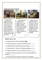 English Worksheet: artists