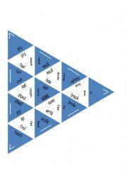 English Worksheet: Trimino - Irregular verbs game