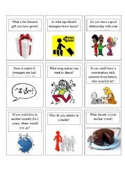 English Worksheet: Speaking Game