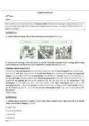 English Worksheet: English Test 10th Grade