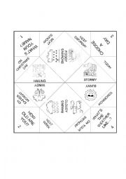 English Worksheet: The weather cootie catcher