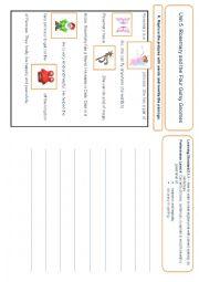 English Worksheet: Rebus Writing Activity
