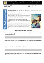English Worksheet: The Fault in our Stars