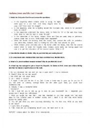 Indiana Jones and the Last Crusade Movie worksheet