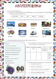 English Worksheet: ADVERTISING