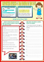 English Worksheet: REPORTED SPEECH 4 (COMMANDS)