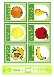 English Worksheet: Fruit. Flash-cards.