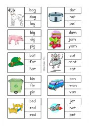 English Worksheet: Clipit Cards 1-20 of 60
