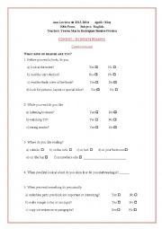 Extensive reading questionnaire