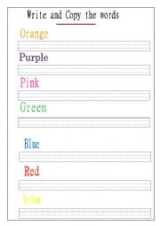 writing colour words