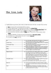 English Worksheet: The Iron Lady