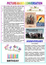 Picture-based conversation : topic 79 - birthday vs anniversary