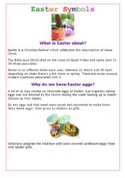 English Worksheet: What is Easter about? 1