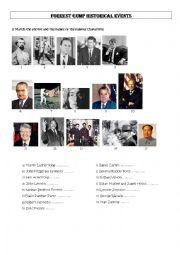 English Worksheet: Forrest Gump HISTORICAL EVENTS part 1
