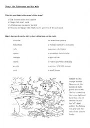 English worksheets: The fisherman and his wife