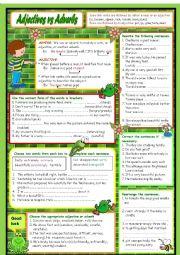 English Worksheet: Adjectives vs Adverbs