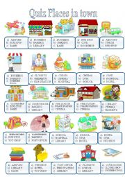 English Worksheet: TOWN AND BUILDINGS QUIZ