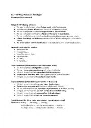 English Worksheet: IELTS WRITING