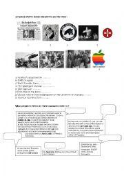 English Worksheet: Forrest Gump Historical Events part 2