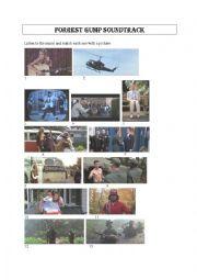 English Worksheet: Forrest Gump soundtrack