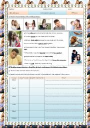 English Worksheet: relationships(8th form )