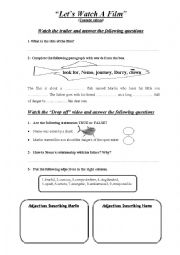 Finding Nemo Worksheet