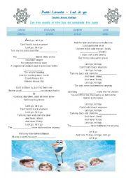 English Worksheet: Demi Lovato - Let it go - Frozen