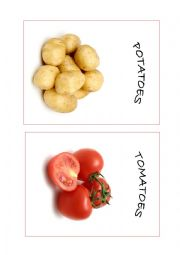English Worksheet: Fruits and vegetables Flashcards PART 1