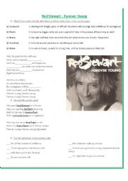 English Worksheet: Forever Young - Rod Stewart