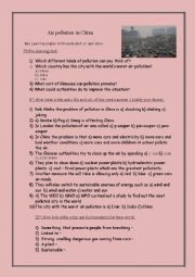 English Worksheet: Listening : Air pollution in China BBC 6 min
