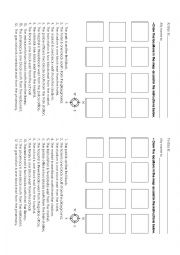 English Worksheet: Map of locations