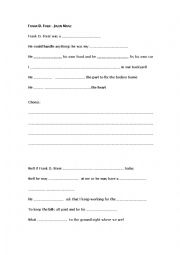 english worksheets frank d fixer fill in the gaps music. Black Bedroom Furniture Sets. Home Design Ideas