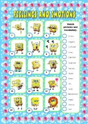 feelings and emotions activity 1