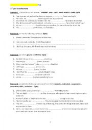 test for 2nd year bac