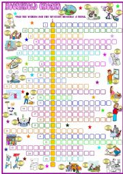 English Worksheet: Household chores:Crossword puzzle