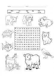 English Worksheet: animals_pets