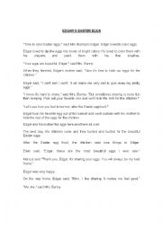 English Worksheet: Edgar the Bunny .An easter Story