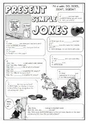 English Worksheet: GRAMMAR JOKES (tenses 1/7)