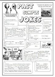 English Worksheet: GRAMMAR JOKES (tenses 3/7)