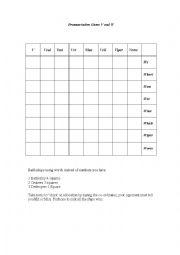 English Worksheet: V and W  pronunciation battleships game