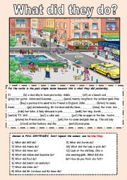 English worksheet: The Past Simple with a picture