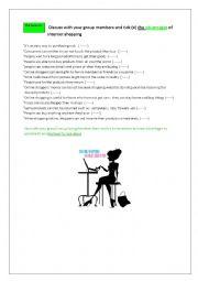 English Worksheet: speaking activities on internet shopping