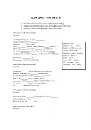 English Worksheet: Come and Get it - Selena Gomez