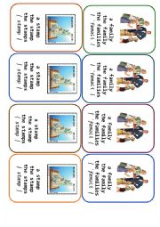 English Worksheet: Four-of-a-Kind Card Game Definite and Indefinite Articles