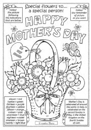 English Worksheet: Mother´s Day activity