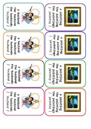 English Worksheet: Four-of-a-Kind Card Game Definite and Indefinite Articles - 2