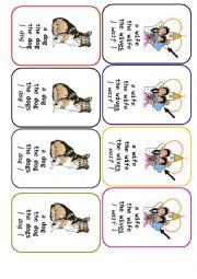 English Worksheet: Four-of-a-Kind Card Game Definite and Indefinite Articles - 3