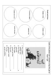 English Worksheet: the gruffalo