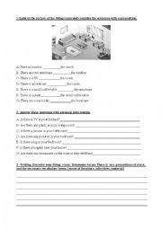 English Worksheet: Room description