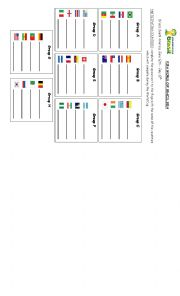 English Worksheet: World Cup Brazil 2014 - Groups and Countries